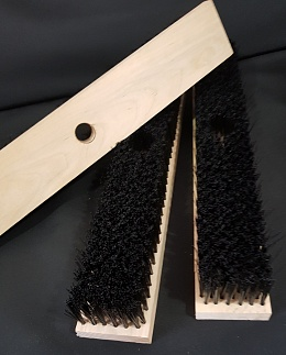Deck brush to be used with handle